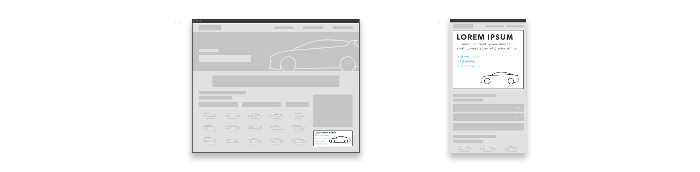 Vehicle Spotlight Wireframe Desktop Graphic